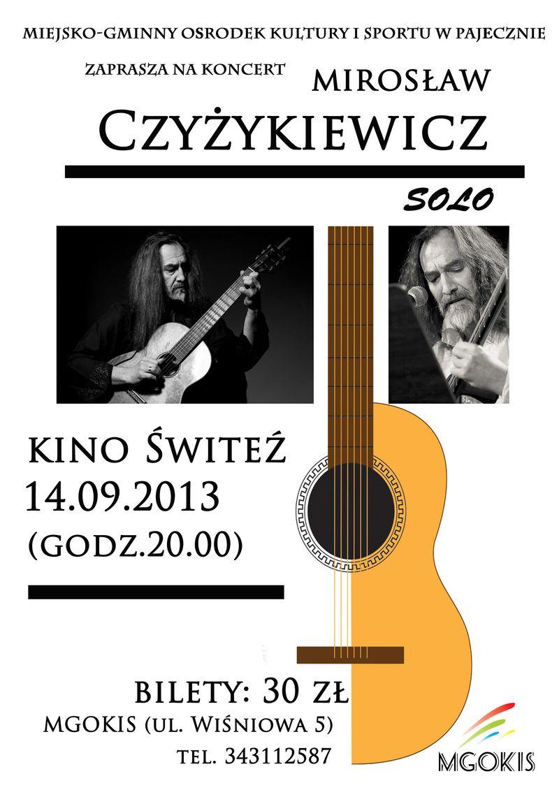 Mirosław Czyżykiewicz ulotka Pajęczno
