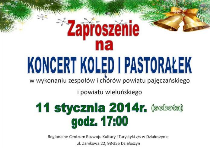 zaproszenie na koledy i pastoralki dzialoszyn