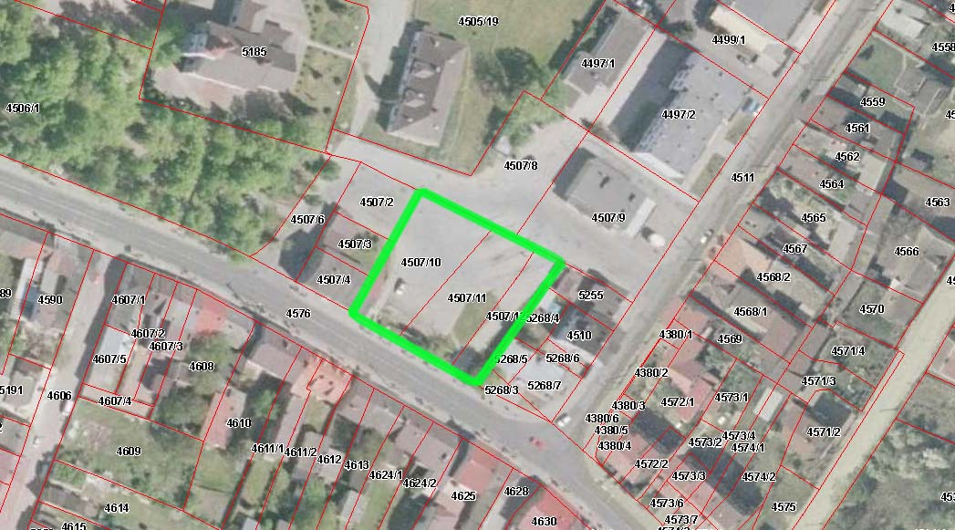 mapka dzialek dworzec pajeczno