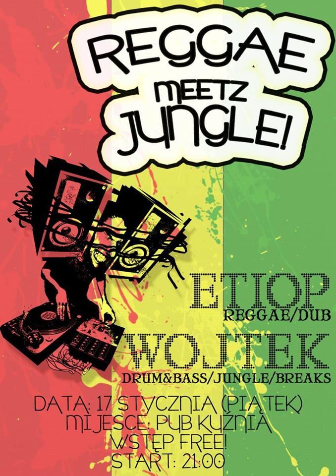 kuznia pajeczno reggae plakat