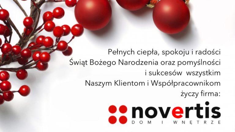 NOVERTIS życzy Wesołych Świąt