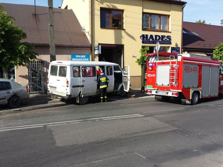 Zderzenie 3 pojazdów na Kościuszki