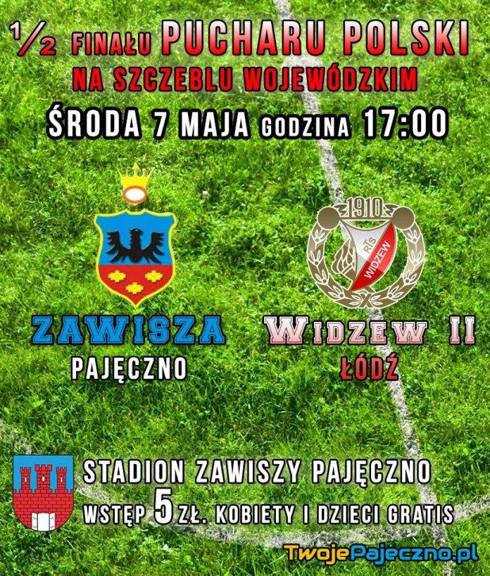 Mecz Zawisza Pajeczno Widzew Łódź ulotka