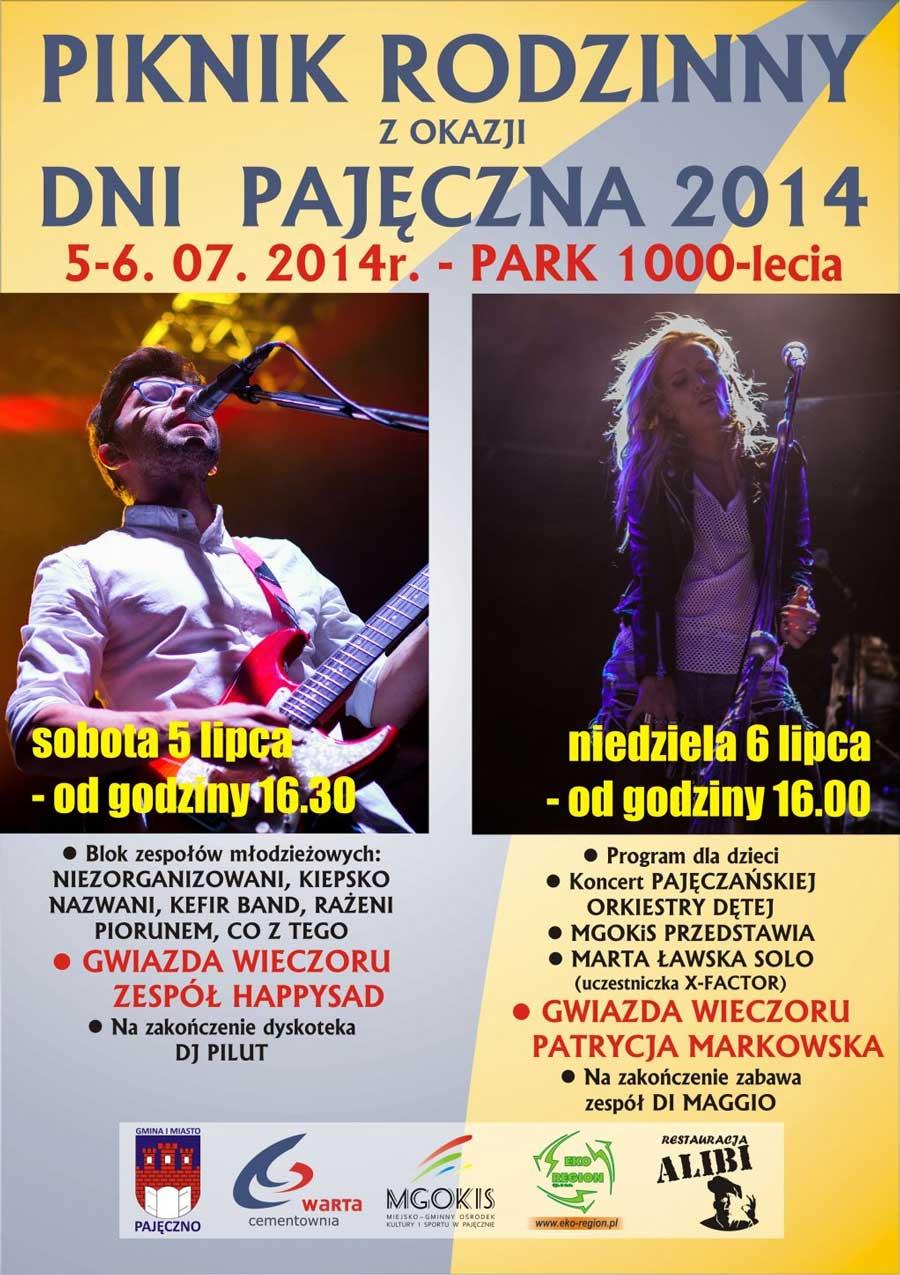 Plakat Piknik Rodzinny Pajęczno 2014