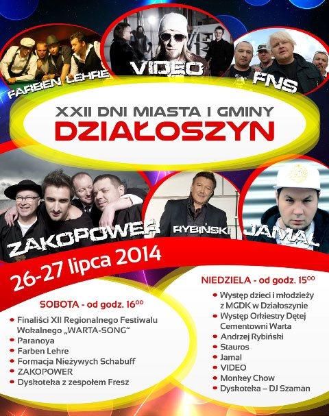 Dni Działoszyna 2014 plakat