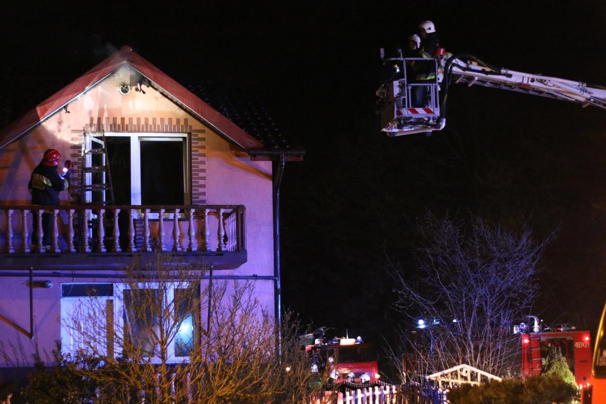 Pożar domu jednorodzinnego
