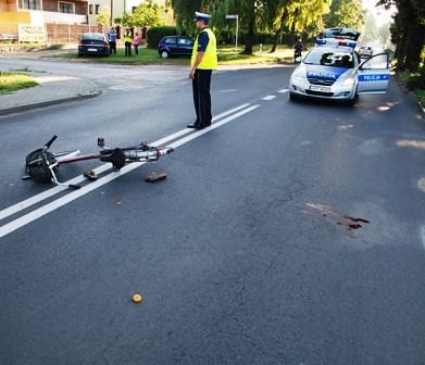 wypadek rowerzystki pajęczno