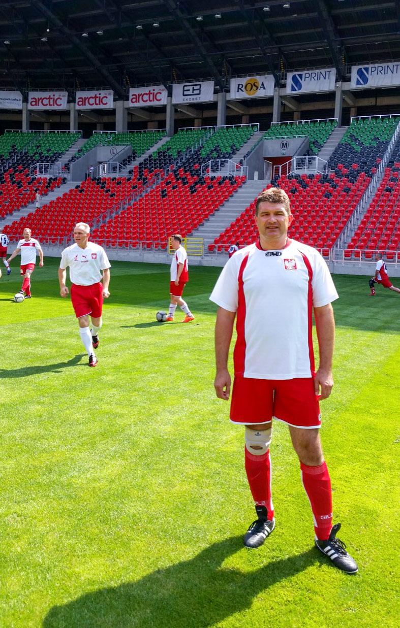 Burmistrz Pajęczna na otwarciu stadionu w Tychach