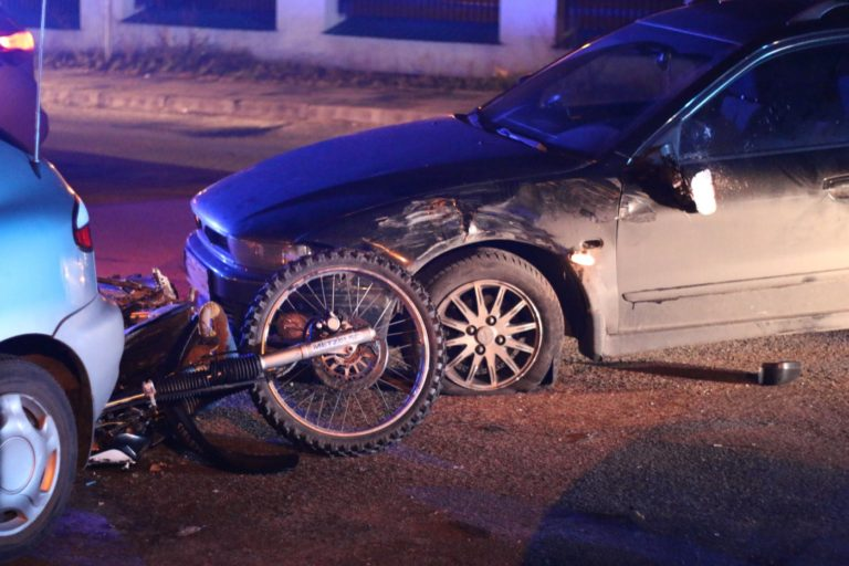 Nieletni motocyklista sprawcą wypadku