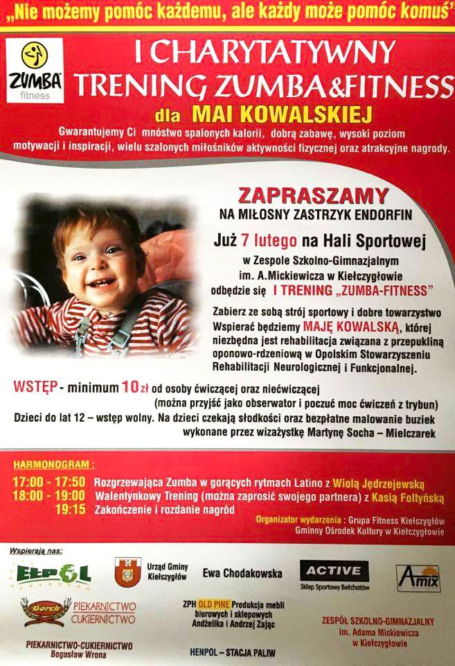 I Charytatywny Trening Zumba & Fitness  w Kiełczygłowie