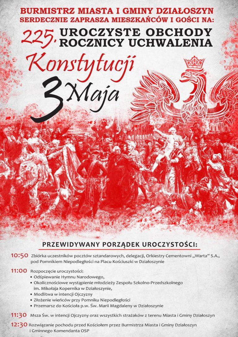 Obchody uchwalenia Konstytucji 3 Maja w Działoszynie