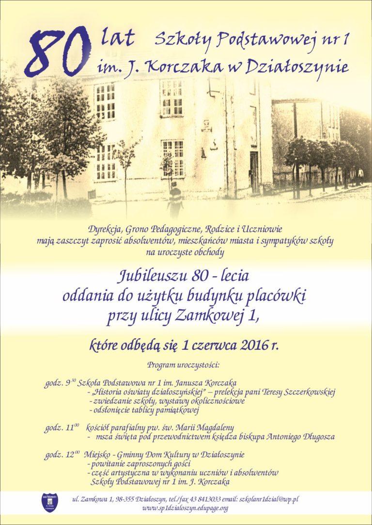 80-lat Szkoły Podstawowej nr 1 w Działoszynie