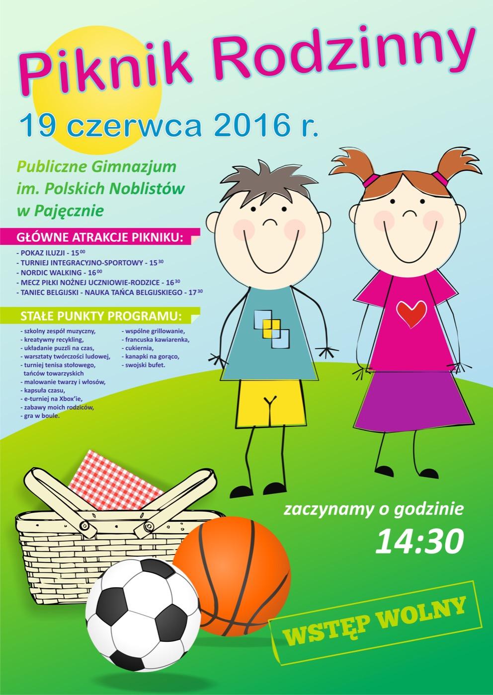 Piknik rodzinny gimnazjum