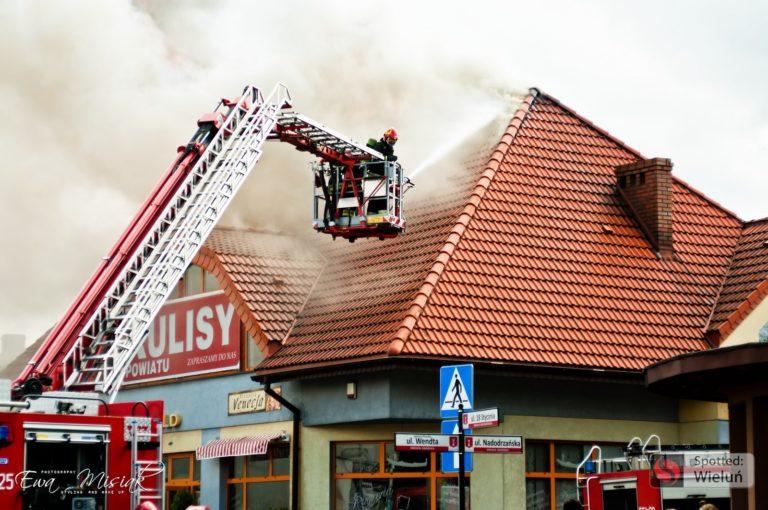 """Pożar w budynku redakcji """"Kulis Powiatu"""""""
