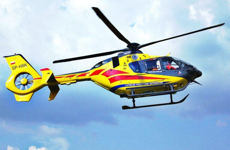 Wypadek w Działoszynie. Poparzonego mężczyznę zabrał helikopter LPR