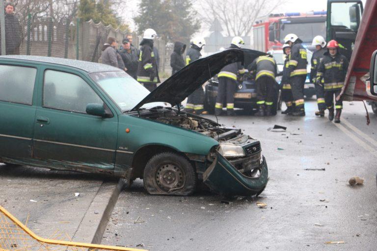 Seria wypadków na drogach powiatu