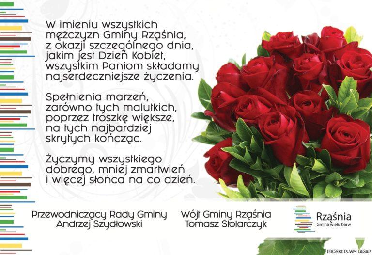 Gmina Rząśnia, życzenia z okazji Dnia Kobiet