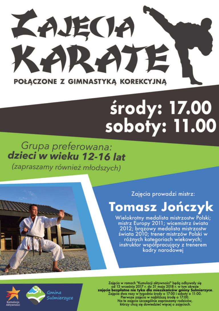 Bezpłatne zajęcia Karate