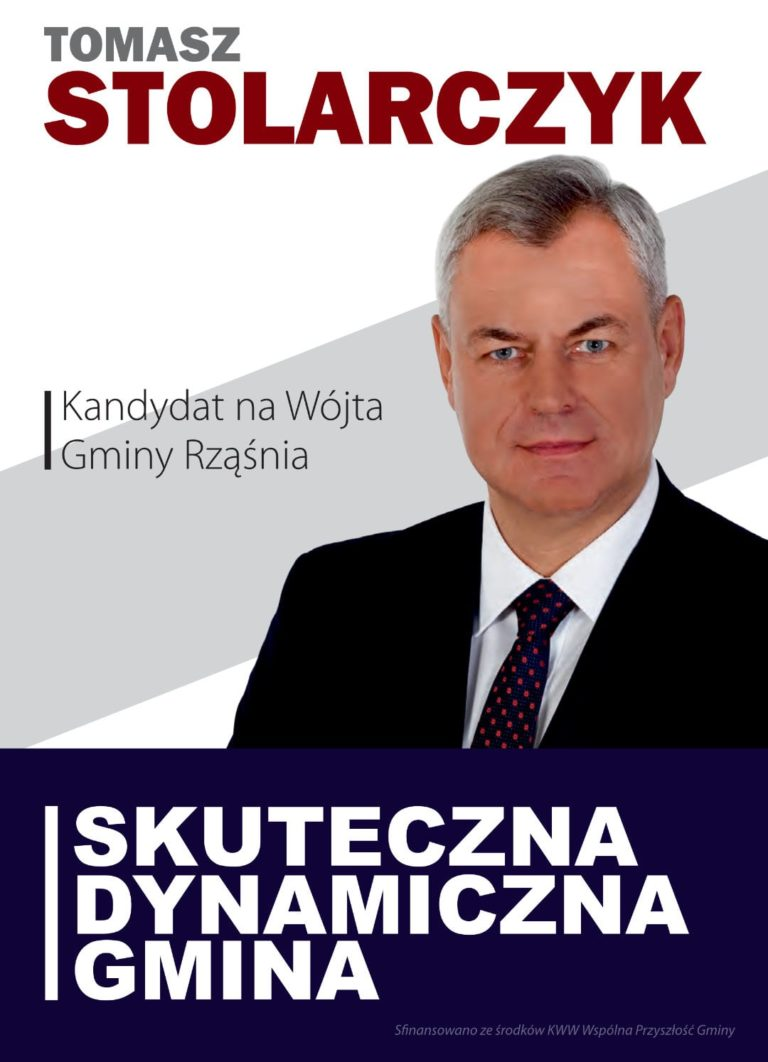 Tomasz Stolarczyk – kandydat na Wójta Gminy Rząśnia