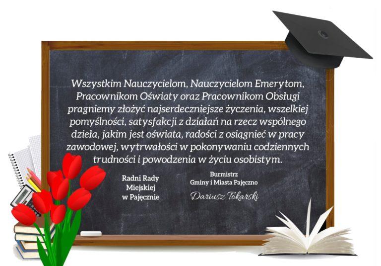Życzenia z okazji Dnia Edukacji Narodowej od władz Gminy Pajęczno