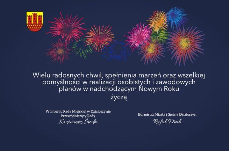 Życzenia Noworoczne od władz miasta Działoszyn