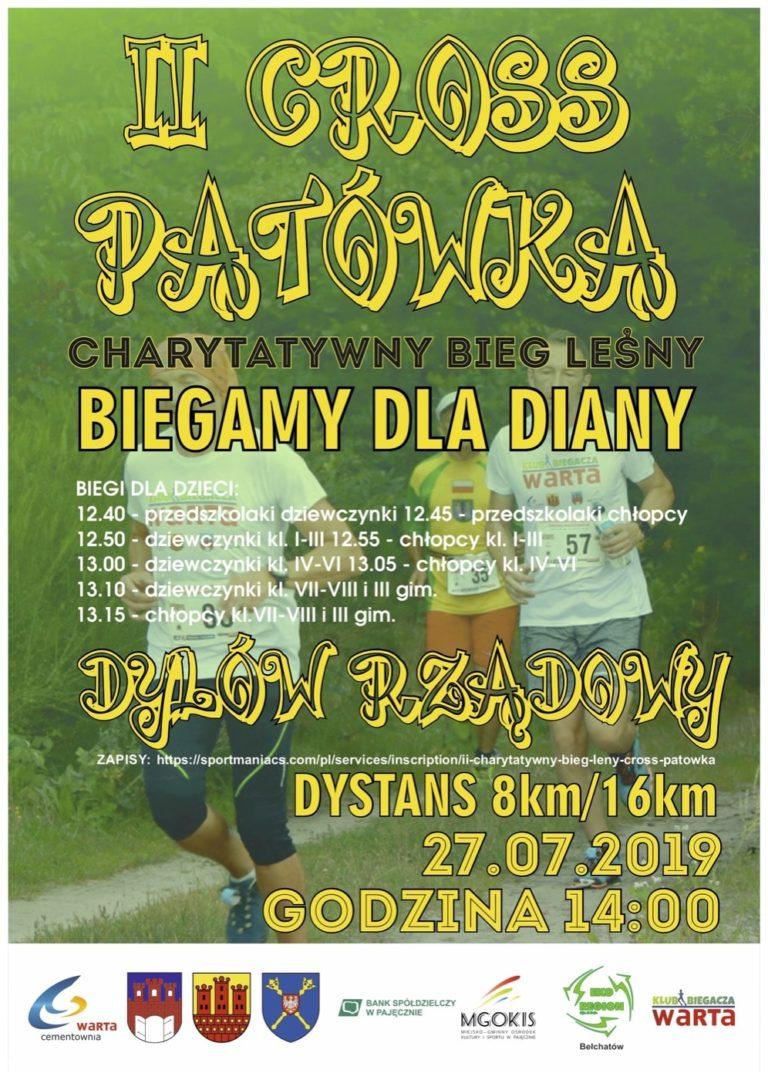 II Cross Patówka – charytatywny bieg leśny dla Diany