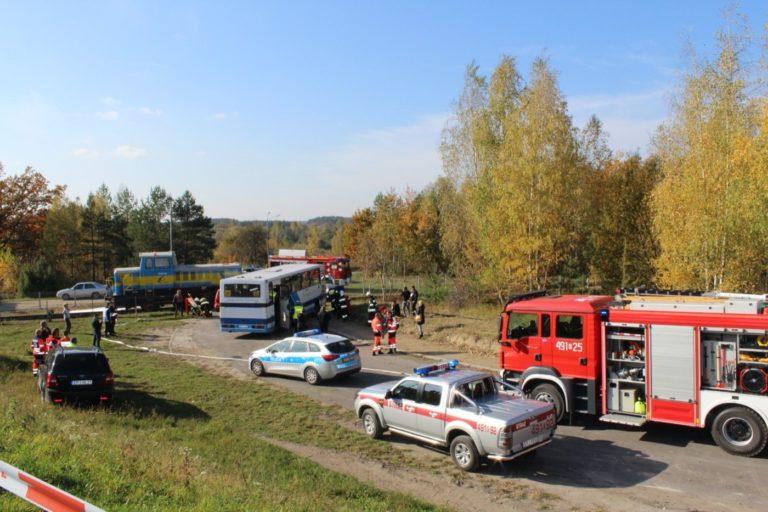 Wypadek na przejeździe kolejowym w Trębaczewie