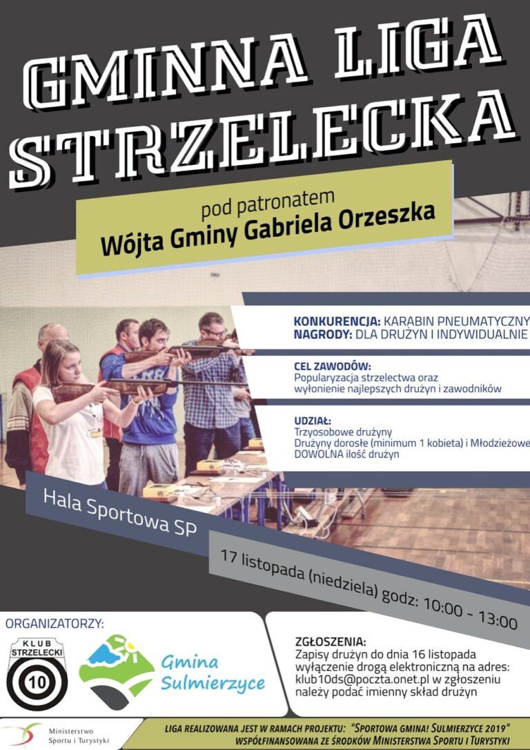 Gminna Liga Strzelecka w Sulmierzycach