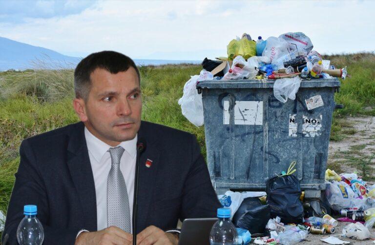 Protest przeciw powiększeniu składowiska odpadów