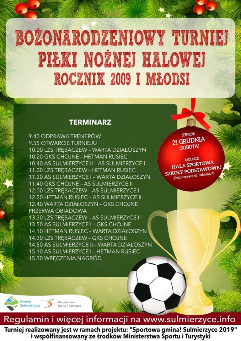 Bożonarodzeniowy Turniej Piłki Nożnej w Sulmierzycach