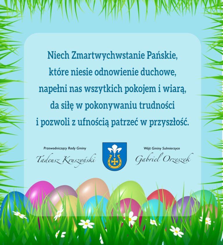 Życzenia Wielkanocne dla mieszkańców Gminy Sulmierzyce