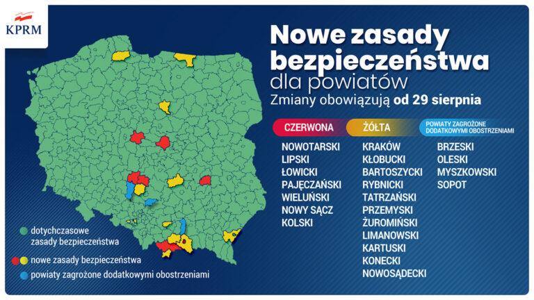 """Powiat pajęczański w """"czerwonej"""" strefie"""