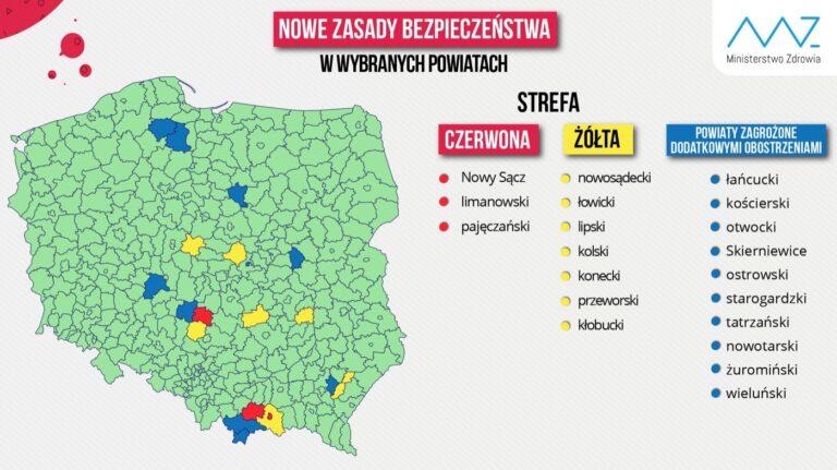 """Powiat pajęczańskim pozostaje w """"czerwonej strefie"""""""