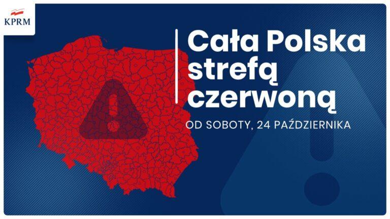 Cała Polska objęta czerwoną strefą. Wprowadzono nowe obostrzenia