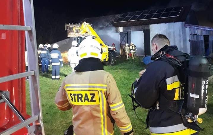 Pożar budynku gospodarczego w Koloni Stróża