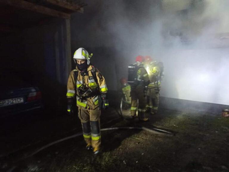 Pożar kotłowni w Dworszowicach Pakoszowych