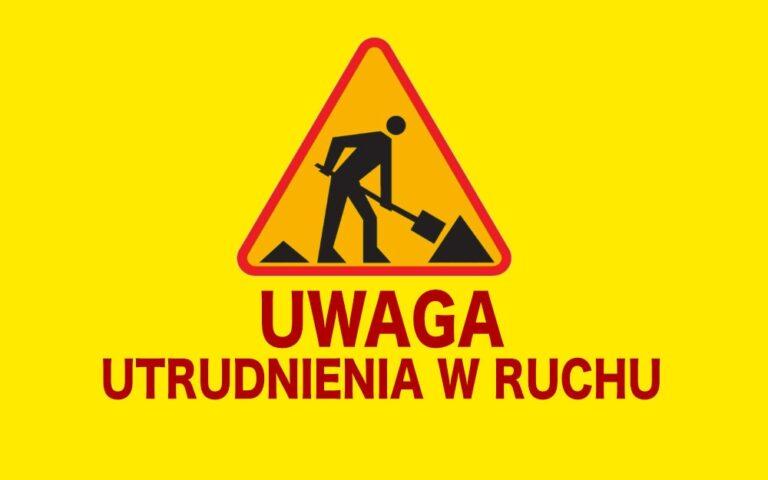Trwa remont drogi Pajęczno – Biała. Uwaga na utrudnienia w ruchu