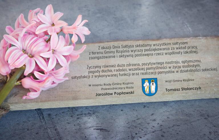 Życzenia z okazji Dnia Sołtysa od władz Gminy Rząśnia
