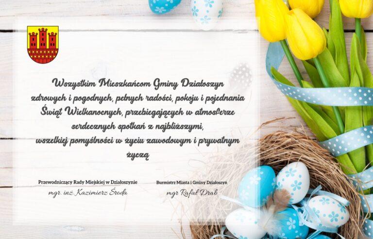 Życzenia Wielkanocne dla mieszkańców Gminy Działoszyn