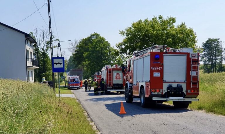 Wypadek w Białej. Rowerzysta w ciężkim stanie trafił do szpitala