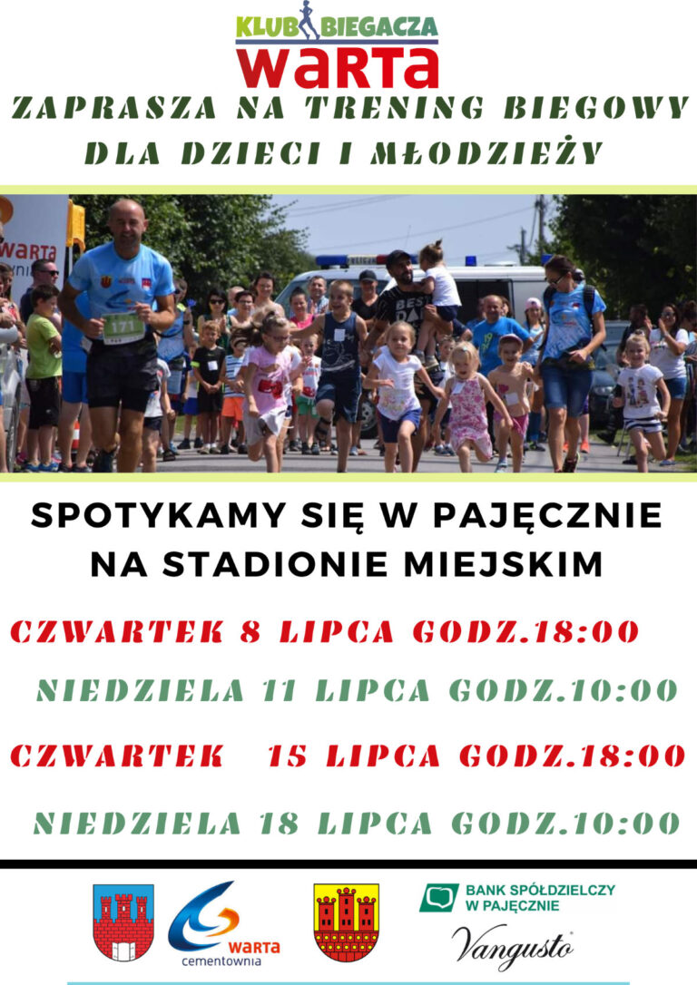 Trening biegowy dla dzieci i młodzieży