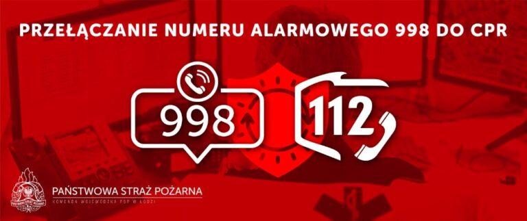 We wrześniu numer 998 zostanie przełączony do CPR