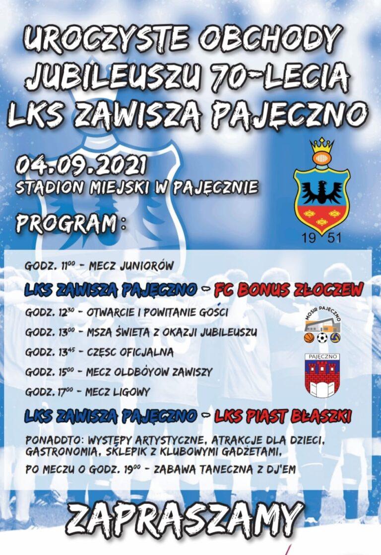 Jubileusz 70-lecia klubu Zawisza Pajęczno