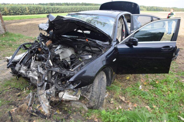 Wypadek pod Makowiskami. Komendant policji trafił do szpitala